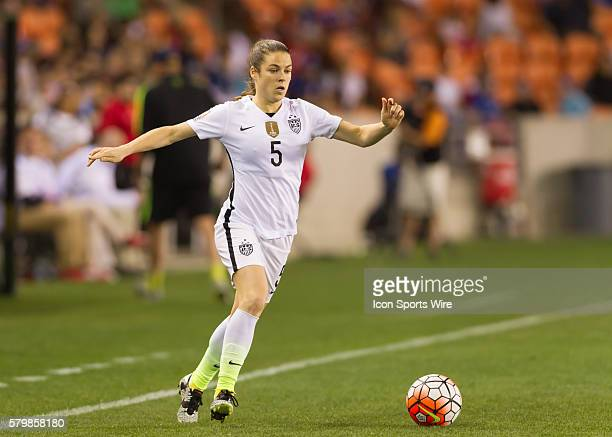 USA Defender Kelley O'Hara during the Women's Olympic semifinal qualifying match between USA and Trinidad Tobago at BBVA Compass Stadium in Houston...