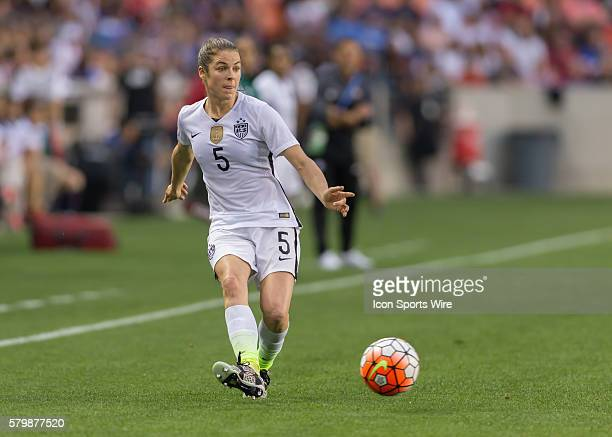 USA Defender Kelley O'Hara during the Women's Olympic qualifying soccer final match between Canada and USA at BBVA Compass Stadium in Houston Texas