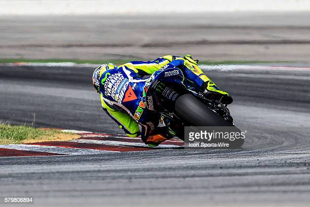 Valentino Rossi of Movistar Yamaha MotoGP in action during the first day of official MotoGP testing session held at Sepang International Circuit in...