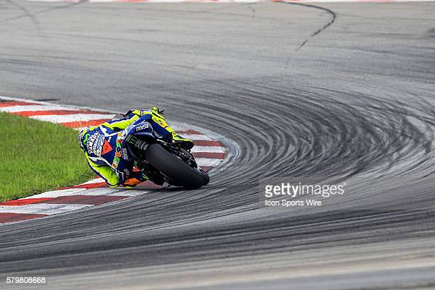 Valentino Rossi of Movistar Yamaha MotoGP in action during the second day of official MotoGP testing session held at Sepang International Circuit in...