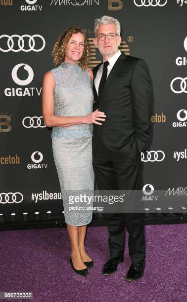 Berlinale 2018 Berlinale Party arrival PLACE To B Party Restaurant Borchardt Actor Dominic Raacke and partner Alexandra Rohleder Photo Britta...