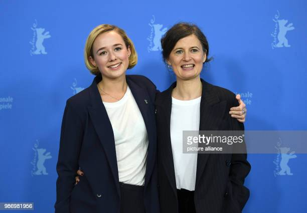Berlinale 2018 photocall 'Becoming Astrid' Actress Alba August with director Pernille Fischer Christensen The film runs in the 'Berlinale Special'...