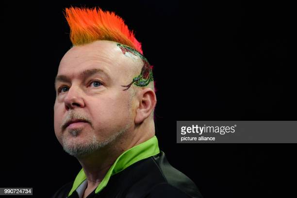 Darts Premier League 4th match day at MercedesBenzArena Dart player Peter Wright from England reacts Photo Gregor Fischer/dpa