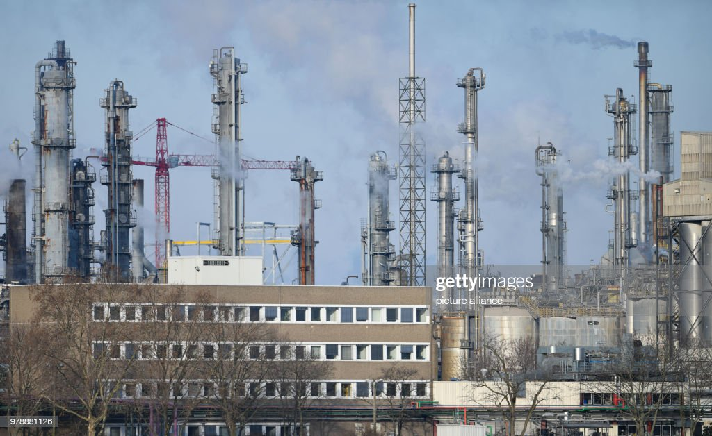 Chimneys stand on the factory gounds of the chemicals