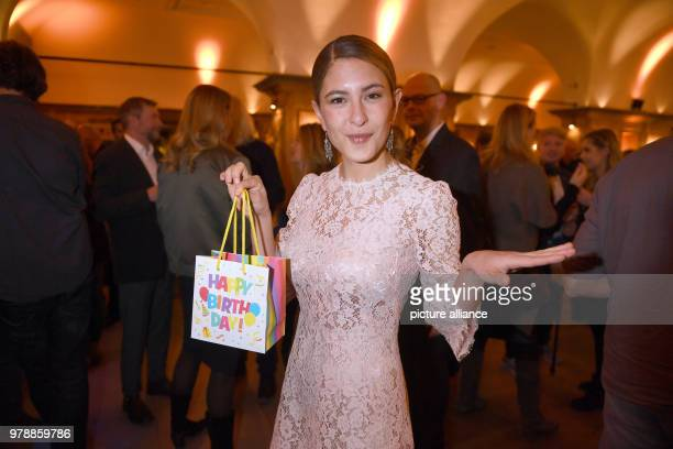 Actress Amanda da Gloria attends the 40th anniversary of the German television series 'Soko Muenchen' at the Seehaus in the English Garden The whole...