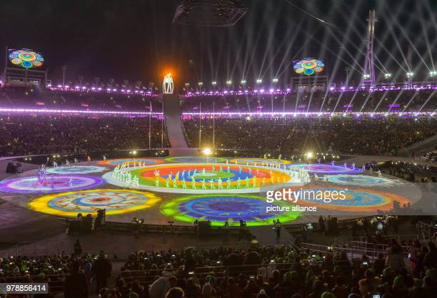 25 February 2018 South Korea Pyeongchang Olympics Closing Ceremony Olympic Stadium Dancers and artists present the closing program of the final...