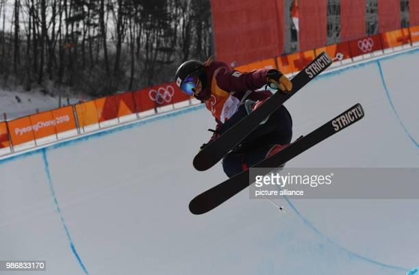 19 February 2018 South Korea Pyeongchang Olympics Freestyle Skiing Halfpipe women Qualification Bokwang Phoenix Snow Park Saori Suzuki from Japan in...