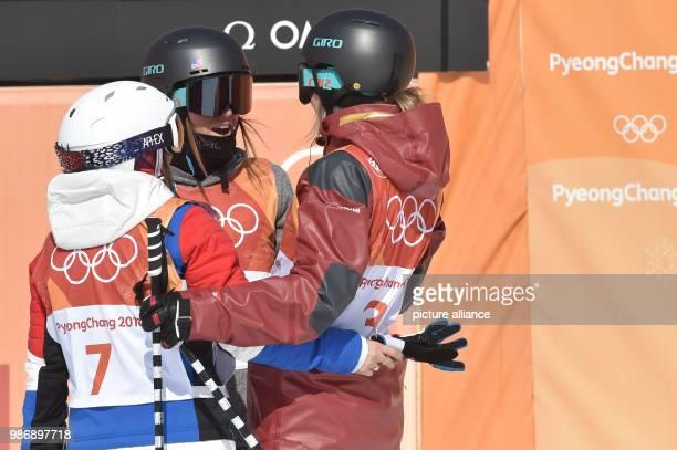 20 February 2018 South Korea Pyeongchang Olympics Freestyle Skiing Halfpipe women Bokwang Phoenix Snow Park Winner Cassie Sharpe fromCanada...