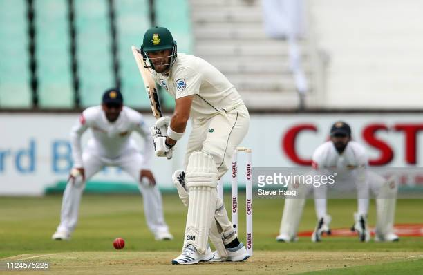 Aiden Markram of South Africa during day 1 of the 1st Castle Lager Test Match between South Africa and Sri Lanka at Kingsmead Cricket Ground on...