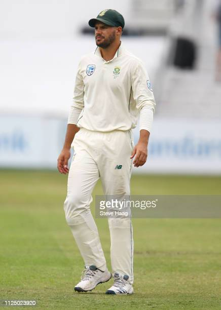 Aiden Markram of South Africa during day 3 of the 1st Castle Lager Test Match between South Africa and Sri Lanka at Kingsmead Cricket Ground on...