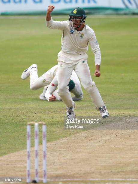 Aiden Markram of South Africa during day 4 of the 1st Castle Lager Test Match between South Africa and Sri Lanka at Kingsmead Cricket Ground on...