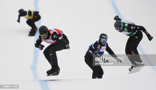 09 February 2019 BadenWuerttemberg Feldberg Im Schwarzwald Snowboard Cross World Cup on the Feldberg in the Black Forest Fourplaced Yoshiki Takahara...