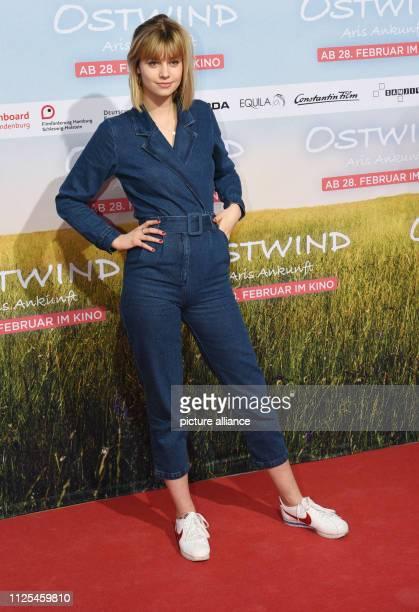 The actress Hanna Binke comes to the premiere of the movie Ostwind Aris Ankunft Photo Angelika Warmuth/dpa