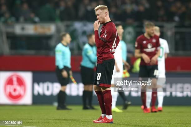 February 2019, Bavaria, Nürnberg: Soccer: Bundesliga, 1st FC Nuremberg - Werder Bremen, 20th matchday in Max Morlock Stadium. Sebastian Kerk from...