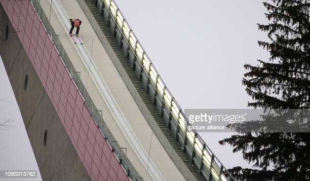 Nordic skiing / ski jumping World Cup ski flying men 1st round Dawid Kubacki from Poland jumps off the hill Photo KarlJosef Hildenbrand/dpa