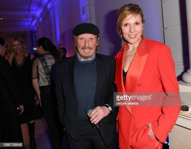 69th Berlinale Actor Claus Theo Gärtner and presenter Andrea Kiewel during the ARD party 'Blue Hour' Photo Britta Pedersen/dpa