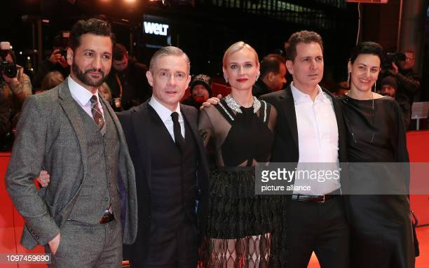 69th Berlinale Actors Cas Anvar Martin Freeman Diane Kruger director Yuval Adler and producer Aglika Dotcheva come to the premiere of the film The...