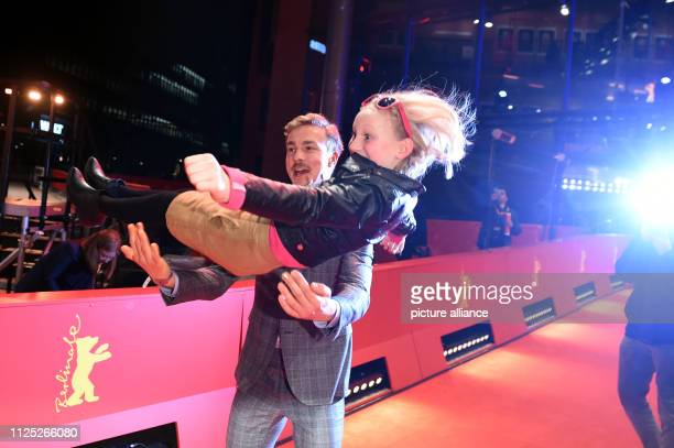 69th Berlinale Closing and awarding of the bears in the Berlinale Palast Albrecht Schuch and Helena Zengel actors of the film Systemsprenger are...