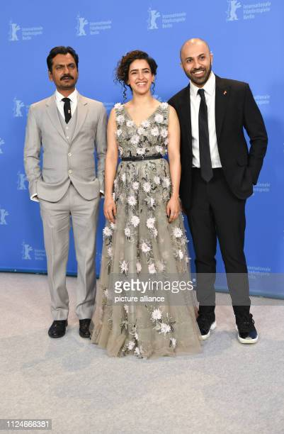69th Berlinale Photocall Photographer India Germany Berlinale Special Nawazuddin Siddiqui Sanya Malhotra actor and Ritesh Batra director Photo Jens...