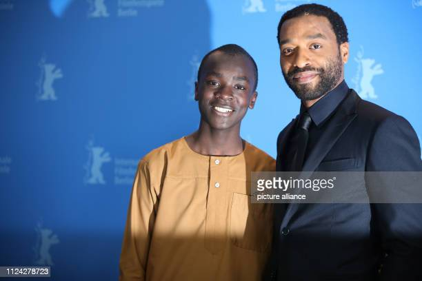 69th Berlinale Photocall Special Gala The Boy Who Harnessed the Wind Great Britain Chiwetel Ejiofor director and Maxwell Simba actor Photo Christoph...
