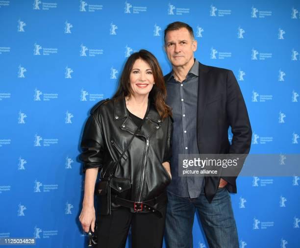 69th Berlinale Premiere Peter Lindbergh Women Stories Berlinale Special at the Haus der Berliner Festspiele Iris Berben actress and husband Heiko...