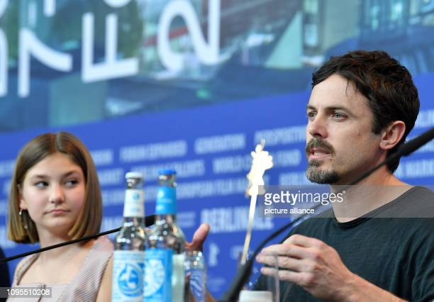 69th Berlinale The actors Anna Pniowsky and Casey Affleck during the press conference for the film Light of My Life The film starts in the Panorama...