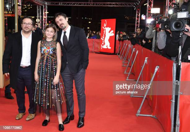 69th Berlinale The actors Casey Affleck and Anna Pniowsky as well as US producer Teddy Schwarzman come to the premiere of the film Light of My Life...