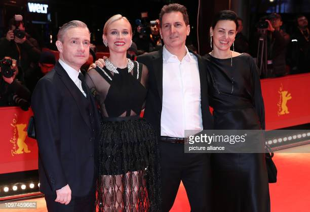 69th Berlinale The actors Martin Freeman Diane Kruger the director Yuval Adler and the producer Aglika Dotcheva come to the premiere of the film The...