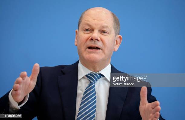 Olaf Scholz Federal Minister of Finance will present the bill against illegal employment and social benefit abuse at a press conference Photo Kay...