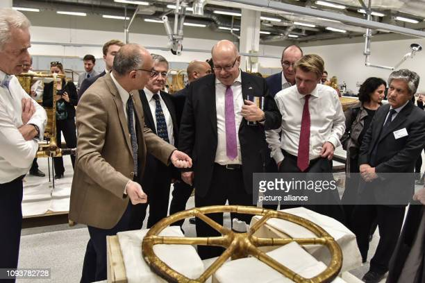 German Economic Affairs and Energy Minister Peter Altmaier visits the Grand Egyptian Museum Altmaier is on a three days visit to Egypt Photo Omar...
