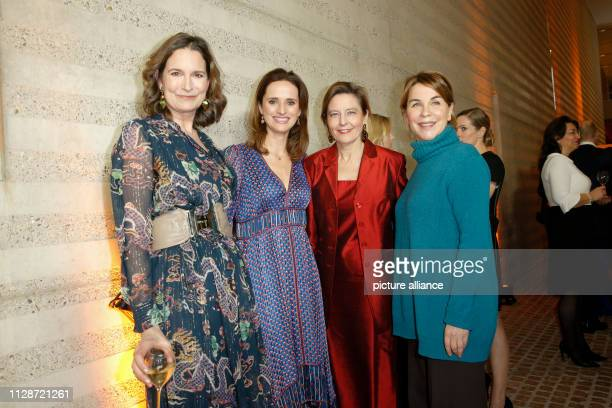 23 February 2019 Germany Berlin Tita von Hardenberg Verena Pausder Beatrice GuillaumeGrabisch Franziska von Hardenberg at the Business Woman Award...