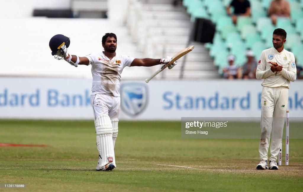 South Africa v Sri Lanka- 1st Test Day 4 : News Photo