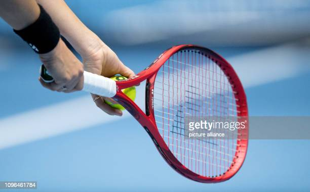 February 2019, Lower Saxony, Braunschweig: Tennis, ladies: Federation Cup - World Group, 1st round, Germany - Belarus: Germany's Tatjana Maria...