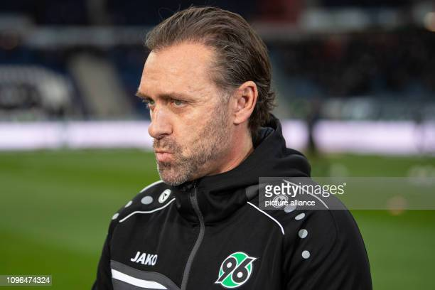 Soccer Bundesliga Hannover 96 1 FC Nuremberg 21 matchday in the HDIArena Hanover coach Thomas Doll is in the stadium before the match Photo Swen...