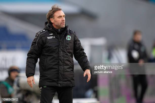 Soccer Bundesliga Hannover 96 1 FC Nuremberg 21 matchday in the HDIArena Hanover coach Thomas Doll is on the sidelines Photo Swen Pförtner/dpa...