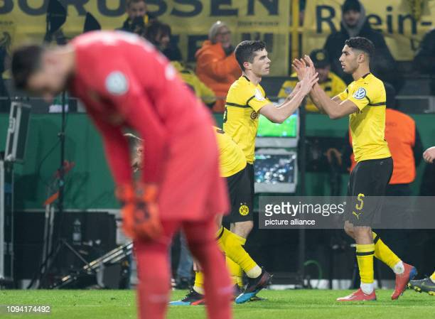 05 February 2019 North RhineWestphalia Dortmund Soccer DFB Cup Borussia Dortmund Werder Bremen Round of 16 in Signal Iduna Park Dortmund's Christian...