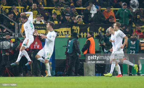 05 February 2019 North RhineWestphalia Dortmund Soccer DFB Cup Borussia Dortmund Werder Bremen Round of 16 in Signal Iduna Park Martin Harnik of...