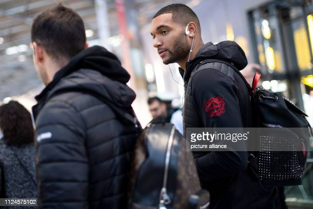 13 February 2019 North RhineWestphalia Köln Jonathan Tah a Bayer 04 Leverkusen player is about to depart for Russia at the airport Leverkusen will...