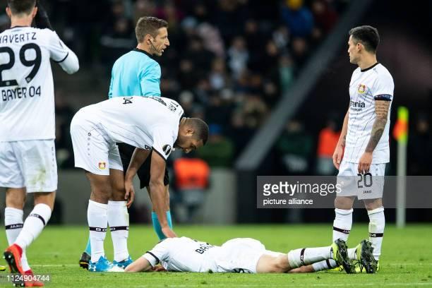 February 2019, Russia, Krasnodar: Soccer: Europa League, FK Krasnodar - Bayer Leverkusen, knockout round, intermediate round, first legs....
