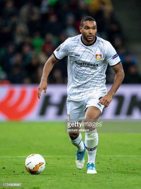 Soccer Europa League FK Krasnodar Bayer Leverkusen knockout round intermediate round first legs Leverkusen's Jonathan Tah plays the ball Photo Marius...