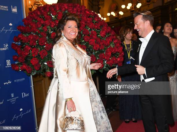 Babette Albrecht and Sandro Rath come to the 14th Semper Opera Ball The motto of this year's ball is Fascination Dresden dreams come true Photo...