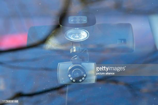Symbol image of a dashcam in a car A Dashcam is a car in the Saxon Pirna between the windshield and rearview mirror firmly installed This records...
