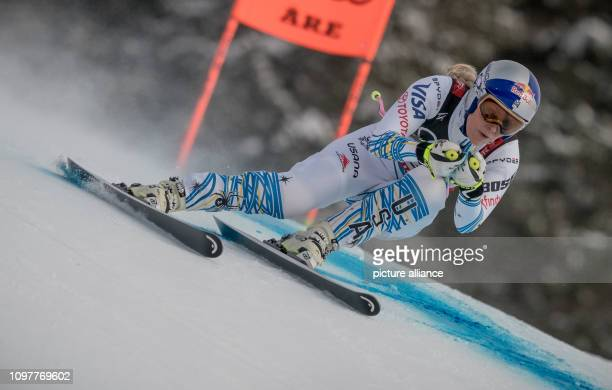 Alpine skiing world championship downhill ladies Lindsey Vonn from the USA on the racetrack Photo Michael Kappeler/dpa