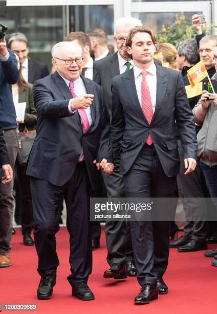 February 2020, Baden-Wuerttemberg, Offenburg: Publisher Hubert Burda and his son Jacob Burda at the media group's staff party. Publisher Hubert Burda...