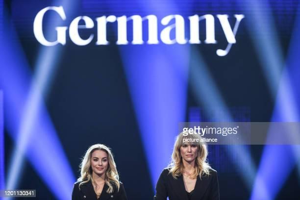 15 February 2020 BadenWuerttemberg Rust The runnerup Lara Runarsson from Bavaria stands next to Leonie Charlotte von Hase the new Miss Germany 2020...