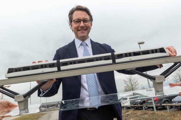 DEU: Magnetic Levitation Train At Munich Airport