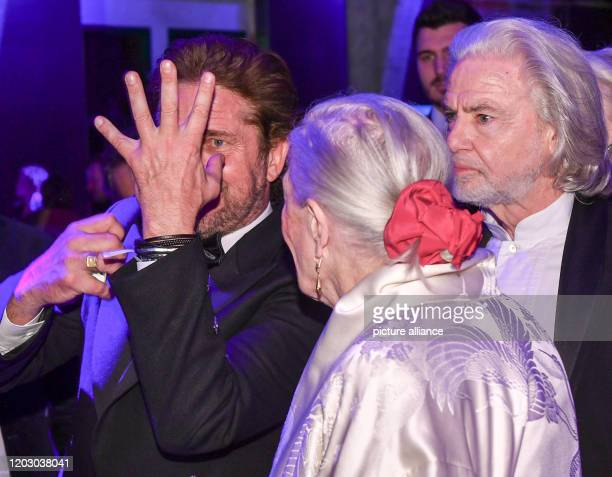70th Berlinale Cinema for Peace Gala actor Gerard Butler director Vanessa Redgrave and Hermann Bühlbecker The International Film Festival takes place...