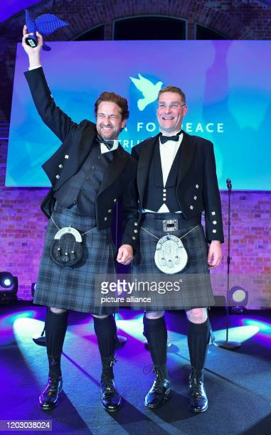 70th Berlinale Cinema for Peace Gala Actors Gerard Butler and Magnus MacFarlane Barrow CEO Mary's Meals The International Film Festival takes place...