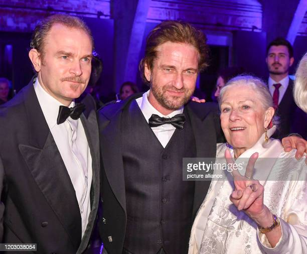 February 2020, Berlin: 70th Berlinale, Cinema for Peace Gala: Carlo Gabriel Nero , the son of Vanessa Redgrave and Franco Nero, actor Gerard Butler...