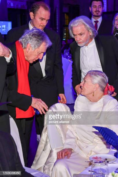 February 2020, Berlin: 70th Berlinale, Cinema for Peace Gala: Director Costa-Gavras in conversation with Vanessa Redgrave. On the left behind Carlo...